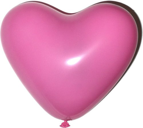 20 Stück schöne Latex-Herzen je 10 pinke und 10 weiße, Heliumgeeignet (Rote Zum Verkauf Luftballons)