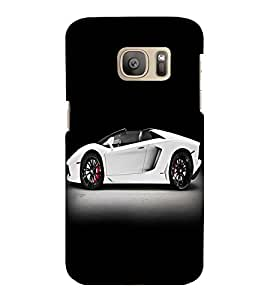 printtech Superfast Car Back Case Cover for Samsung Galaxy S7 edge :: Samsung Galaxy S7 edge Duos with dual-SIM card slots