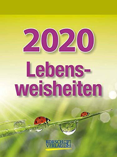 Lebensweisheiten 2020: Tages-Abreisskalender mit einem neuen Spruch für jeden Tag. I Aufstellbar I 12 x 16 cm (Motivations-kalender)