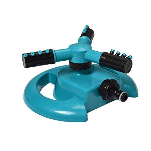Césped rociadores automática 360DEGREE Rotary agua pulverizador de rociadores agua para toda césped jardín riego pantalones