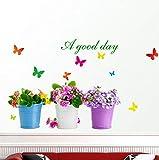CczxfccNuovo Diy Wall Sticker Pianta In Vaso Bonsai Home Decor Adesivo Farfalla Per Soggiorno Decorazione Della Casa Giardino Impermeabile