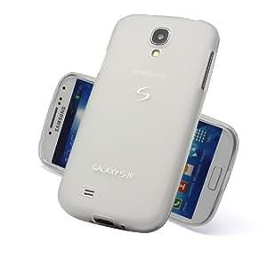 S Design Silikon TPU Case für Samsung Galaxy S4 i9500 - Hülle Schale Backcover - Transparent Weiss