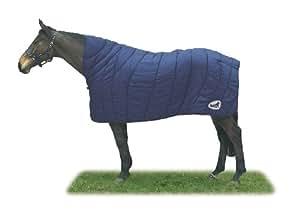 Masta Couverture matelassée pour cheval, cintré, R609, Blu - blu