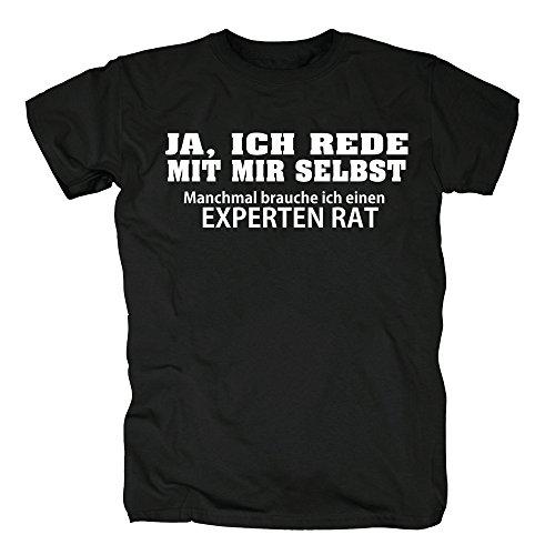 TSP Ja ich rede mit mir selbst T-Shirt Herren L Schwarz