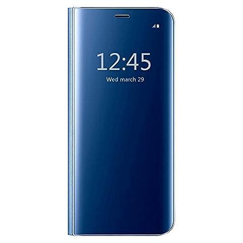 Coque Galaxy A7 2017/A720,Grandcaser Clear View Etui Flip Folio Coque