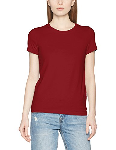 ONLY Damen T-Shirt Onllive Love Trendy SS O-Neck Top Noos, Rot (Sun-Dried Tomato), 38 (Herstellergröße: M) (Tops Trendy Damen)