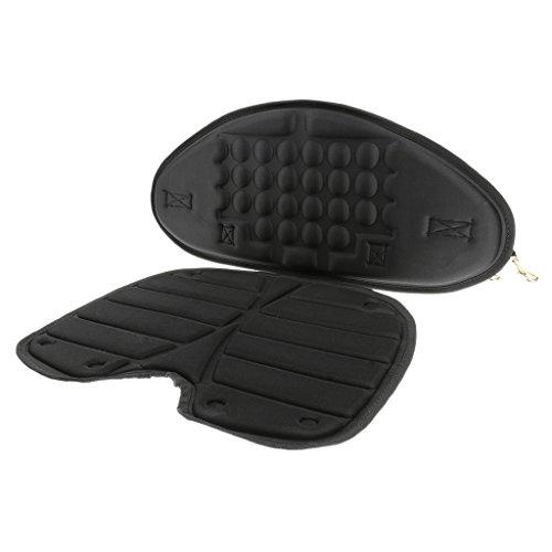 Generic Bequeme Kajak Sitzkissen mit Abnehmbarer Rückenlehne für Kajak Kanu Boot Schlauchboot usw. Wassersport Sitzauflage -