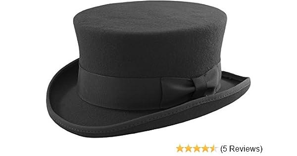 3bd76015caf Unisex Black Deadman 100% Wool Dressage Topper Riding Equestrian Ascot  Event Top Hat  Amazon.co.uk  Clothing