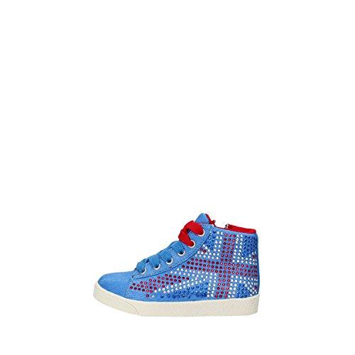 LULU' sneakers bambina blu tela strass AG663 (29 EU)