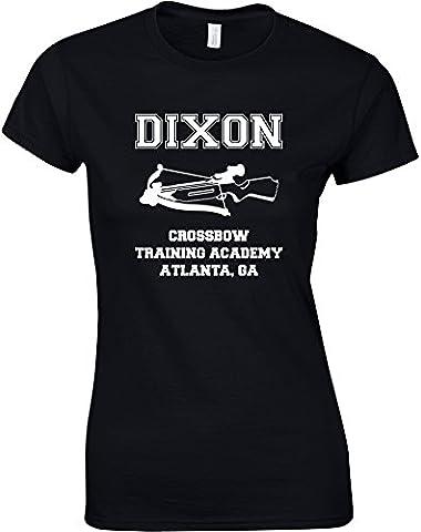 Dixon Crowssbow Training Academy, Mesdames T-shirt imprimé - Noir/Blanc L = 87-91cm
