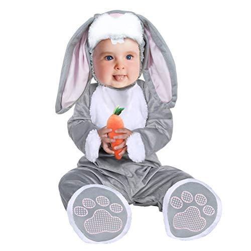 TOYMYTOY Baby Tier Pyjamas Strampler Halloween Maskerade Kostüm Cosplay mit Kapuze Schlafanzug Nachtwäsche Nachtwäsche Größe M (Kaninchen Muster) (Halloween-pyjamas Für Babys)