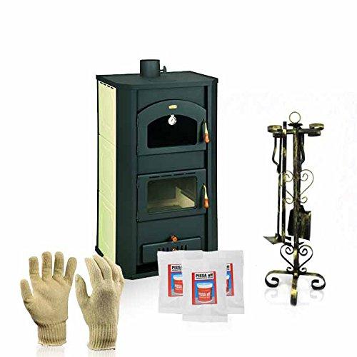 Caldera de leña estufas con horno Prity, Modelo FG W20, salida de...