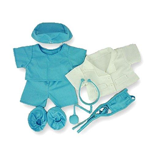 build-your-bears-completo-da-dottore-con-stetoscopio-per-orsetti-peluche-di-38-cm-colore-blu