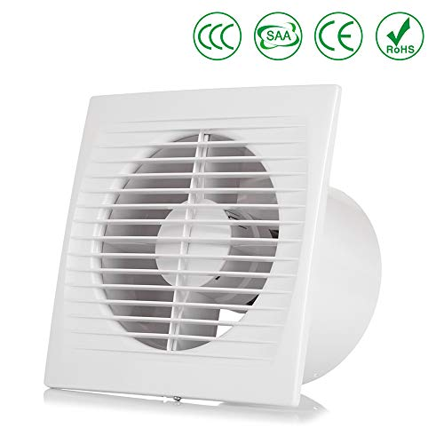 OOPPEN 6'' Ventilation Wall or Ceiling Mounted Exhaust Fan Extractor Fan with Back Draught Shutter(ø150mm)