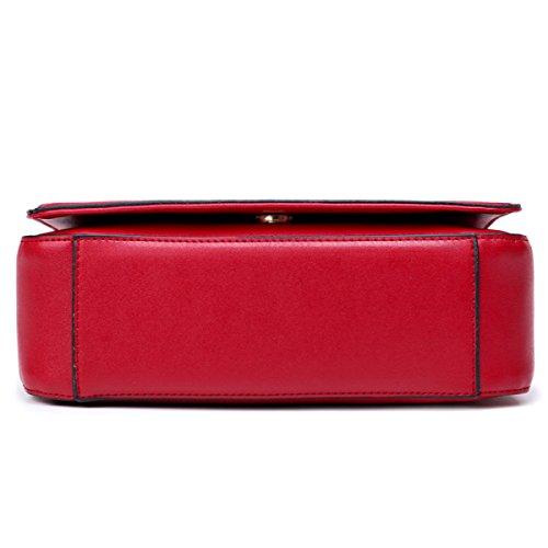 Frau Schultertasche Messenger Bag Red