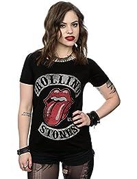 Rolling Stones mujer Tour 78 Tongue Manga de la camiseta del rollo X-Large Negro