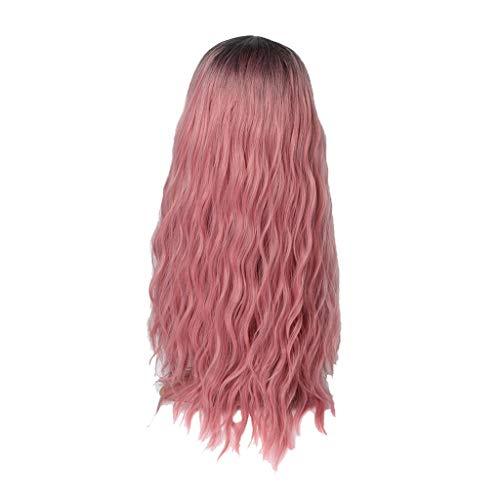 kashyk Damen Perücke Mikrorolle Lange Haare Maskerade synthetische Haare Cosplay (Helle Blaue Perücken)