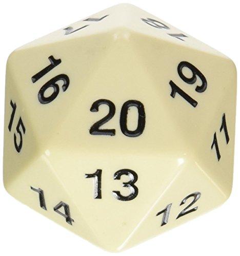 Koplow Games 14799 - W20 Countdown Würfel, 55 mm, elfenbein
