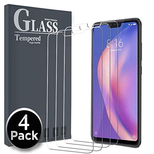 Ferilinso Cristal Templado para Xiaomi Mi 8 Lite,[4 Pack] Protector de Pantalla Screen Protector con garantía de reemplazo de por Vida para Xiaomi Mi 8 Lite