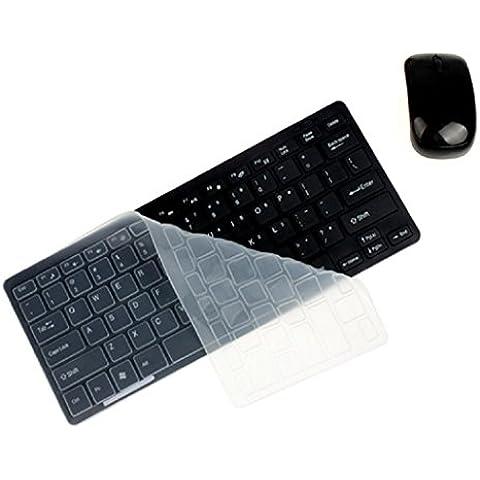 Koly De lujo Mini teclado ultra delgado de 2.4G ratón Kit para PC portátil (Negro)