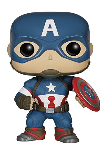 Avengers Age of Ultron Captain America POP! Wackelkopf Figur 10 cm (Captain America Dekorationen)