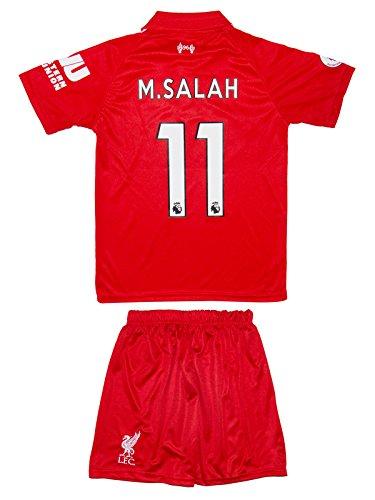 SVB Liverpool 2017/18doméstica # 11Salah–Niños Camiseta y Pantalones, 140