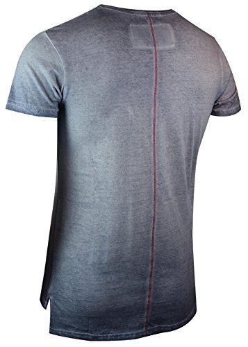 trueprodigy Casual Herren Marken T-Shirt mit Aufdruck, Oberteil cool und stylisch mit Rundhals (kurzarm & Slim Fit), Shirt für Männer bedruckt Farbe: Blau 1063122-4014 Ombre Blue