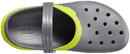 Crocs Duet Sport Max, Sabots - Mixte adulte Gris (Graphite/Volt Green)