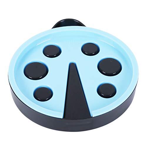 Preisvergleich Produktbild Faliya Kreative Seifenablage Halter PP Doppel Abfluss Seifenschale Umweltschutz Lagerung Geschirrhalter für Badezimmer,  Blau