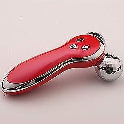 CSFM-Face 3D Roller Cara Cuerpo Massager Rodillos Microcorriente Vibración Forma Y Massager Apriete Cuerpo Elevación Que Adelgaza Cuidado La Piel,Red