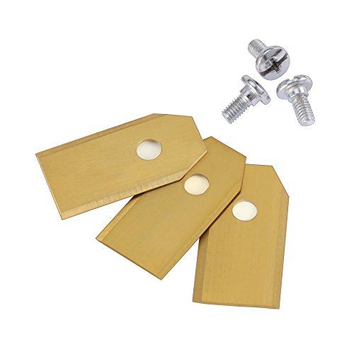 30x Titan Messer Klingen, KWOKWEI Original Ersatzmesser aus Carbon (3g – 0,75mm), Mähroboter Ersatzmesser für alle Husqvarna Automower und Gardena | Rasenmäher