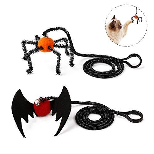 Clevere Katze Kostüm - Egosy Halloween Pet Hund Bat Wings Katze Fledermaus Kostüm Fledermausflügel für Katzen Hund mit Horn Kürbis Glocke Katze Haustier