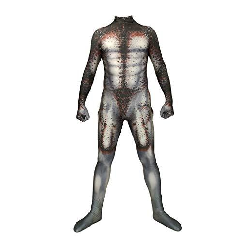 QWEASZER Predator Anime Kostüm Cosplay Kostüm Rollenspiel Party Outfits Strampler Siamesische Strumpfhose Predator Kostüm Halloween Zentai Kostüm,Predator-S