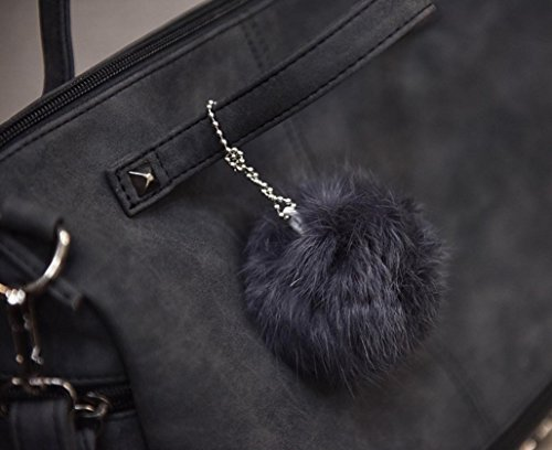 Damen Handtaschen, Huhu833 Frauen Niet Handtaschen große Taschen Schultaschen Schulter Beutel Reise Tasche Schwarz