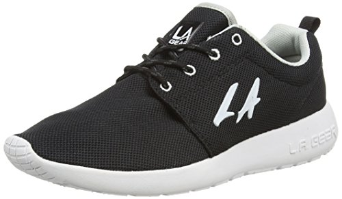 L.A. Gear Sunrise, Low-Top Sneaker donna, Nero (Schwarz (Black-white 05)), 38