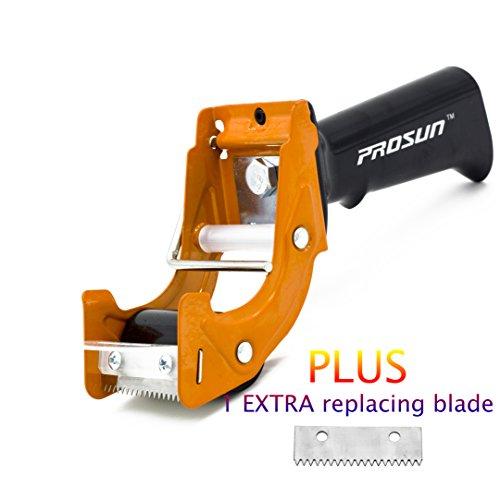 Prosun TG01 Klebebandabroller für Verpackung, 48 mm / 50 mm (5 cm), schnelles Nachladen, Orange