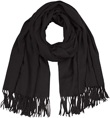 ONLY NOS Damen Schal onlNALA WEAVED LONG WOOL SCARF ACC Schwarz (Black) One Size