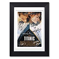 Mounted Gifts Titanic Cast Signed A4 Poster Photo Print Framed Autograph Gift Movie Film (POSTER ONLY)