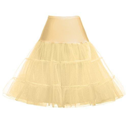 Elegant Damen 50s Retro Unterrock Reifrock für Kleid Ballkleider Abendkleider Brautkleid Größe M...