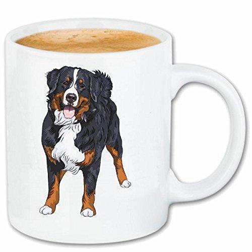 Reifen-Markt Tasse à café Chien DE Montagne Bernois- Chien ELEVAGE Maison Chiens Kennel ÉLEVEURS Puppy Formation Care Céramique 330 ML en Blanc