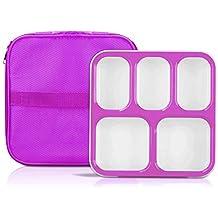 Caja para almuerzo, ecológica, sin BPA, a prueba de fugas, tapa hermética