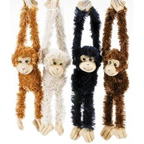 Plush Hanging Monkeys - Size 16 Hand Fingers to Toe . Ships in a set of 4 , 5 , 6 or 12 (price of 4 , 5 , 6 or 12 are different) + Free iphone 6 case [ See Conditions details Before Ordering ] by Goffa