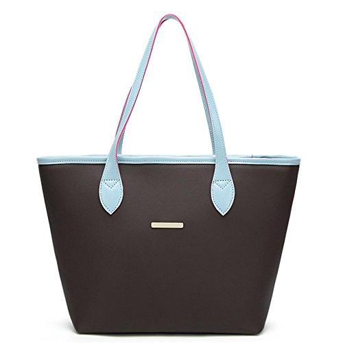 Einfache Mode Frauen Platz Tasche BURFLY 2018 Damen Leder Handtasche Schultertasche Umhängetasche (Blue) (Blue Tote Denim)