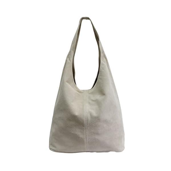 AMBRA Moda WL818, pochette, borsa a tracolla, shopper, da donna, in vera pelle