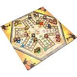 Ritter Ludo aus Holz (Ludo of Lords), großes Spielbret mit 40x40cm, für 2-6 Personen, Würfelspiel für Kinder und Erwachsene