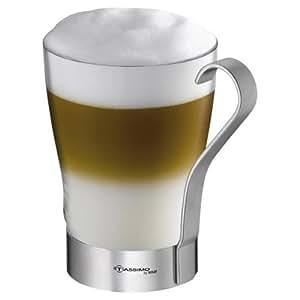 tassimo by wmf latte macchiato glas mit henkel. Black Bedroom Furniture Sets. Home Design Ideas