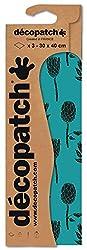 Decopatch Papier No. 758 (grün Distel, 395 x 298 mm) 3er Pack