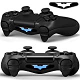 2x LED Sticker 2x Thumb Grips für PlayStation 4 Controller Light Bar...
