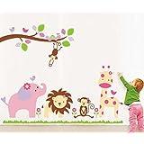 Decals Design U0027Baby Cartoon Animal Kingdom Kidsu0027 Wall Sticker (PVC Vinyl,  50 Cm X 70 Cm) Part 94