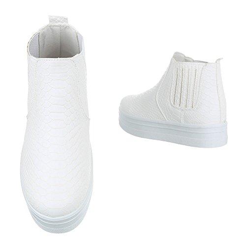 Ital-Design , Bottes à enfiler femme Weiß